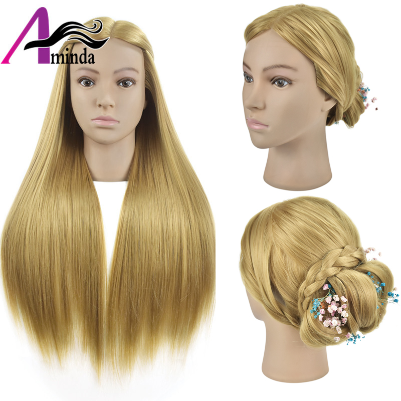 Salon Training Head Hair 26 Hairdressing Mannequin Head #27 Synthetic Hair Training Mannequin Hairstyles Manikin Doll Head