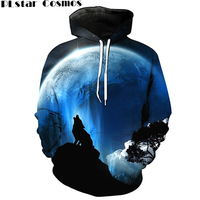 PLstar Cosmos 2017 Fashion Men S 3D Wolf Hooded Sweatshirt Unisex Harajuku Hooded Sweatshirt 24 Models