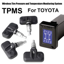 Wi-fi Tire Strain Monitoring System Automotive TPMS for Toyota with 4pcs Inner sensor