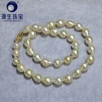 YS 9 10 мм Морской культивированный барокко ЮЖНОГО МОРЯ жемчужные цепочки Цепочки и ожерелья для Юбилей Fine Jewelry