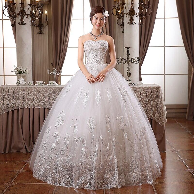 2017 New Sweet Lace Floor Length Wedding Dress Sexy Tube