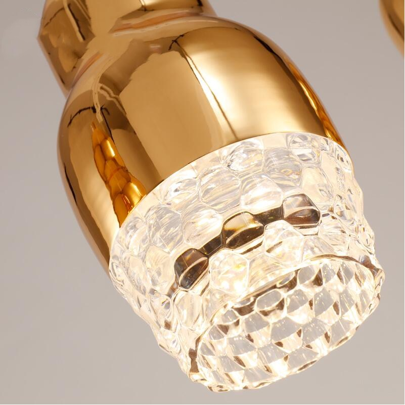 Designer DIY LED 110V220V Glass Pendant Lights Lamps Gold Copper Chrome White Color Dining Room Cafe Bar Living Home In From