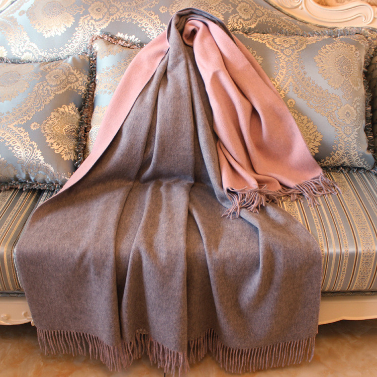Двухлицевая цветная кашемировая смесь овечьей шерсти модные роскошные шарфы шаль пашмины толстое одеяло 70х200см