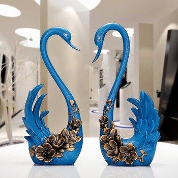 Decoration Crafts Figurines & Miniatures, Resin crafts, Creative swan decoration, wedding gift