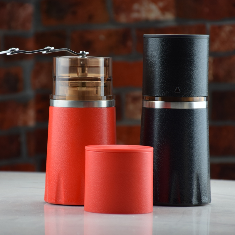 Freeshipping Ecocoffee Manual Coffee Grinder All-in-one Filter Cffee Cup For Travel Home Gift Bean Mill Conical Burr Maker