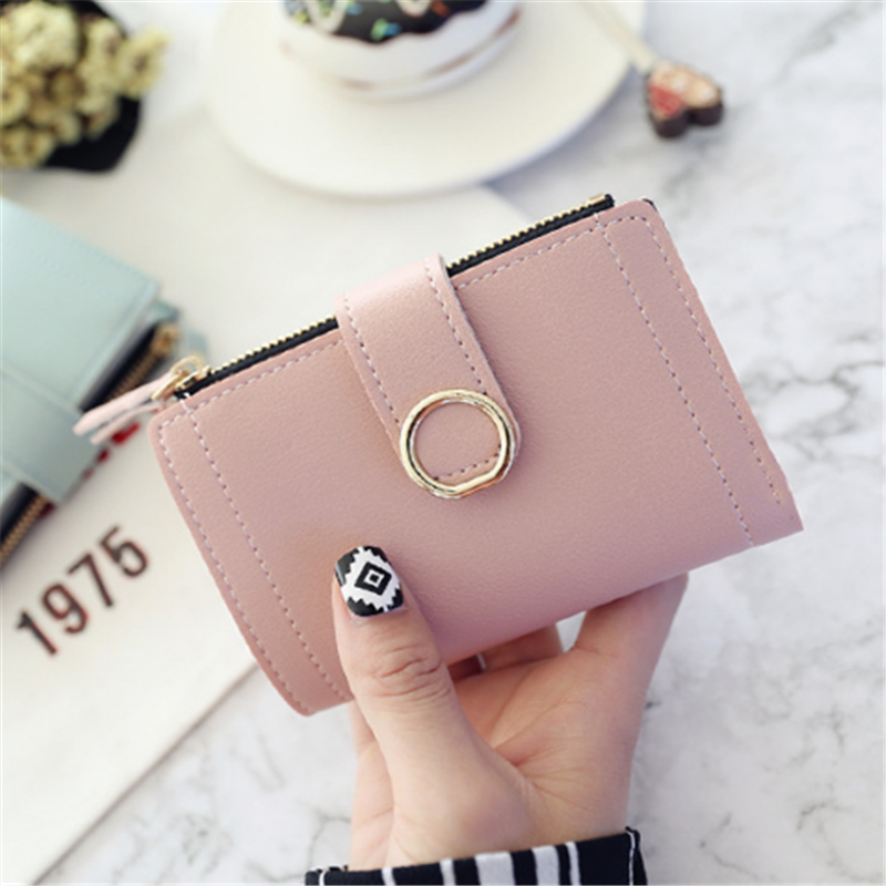 Women Wallets Small Fashion Brand Leather Purse Women Ladies Card Bag For Women 2018 Clutch Women Female Purse Money Clip Wallet