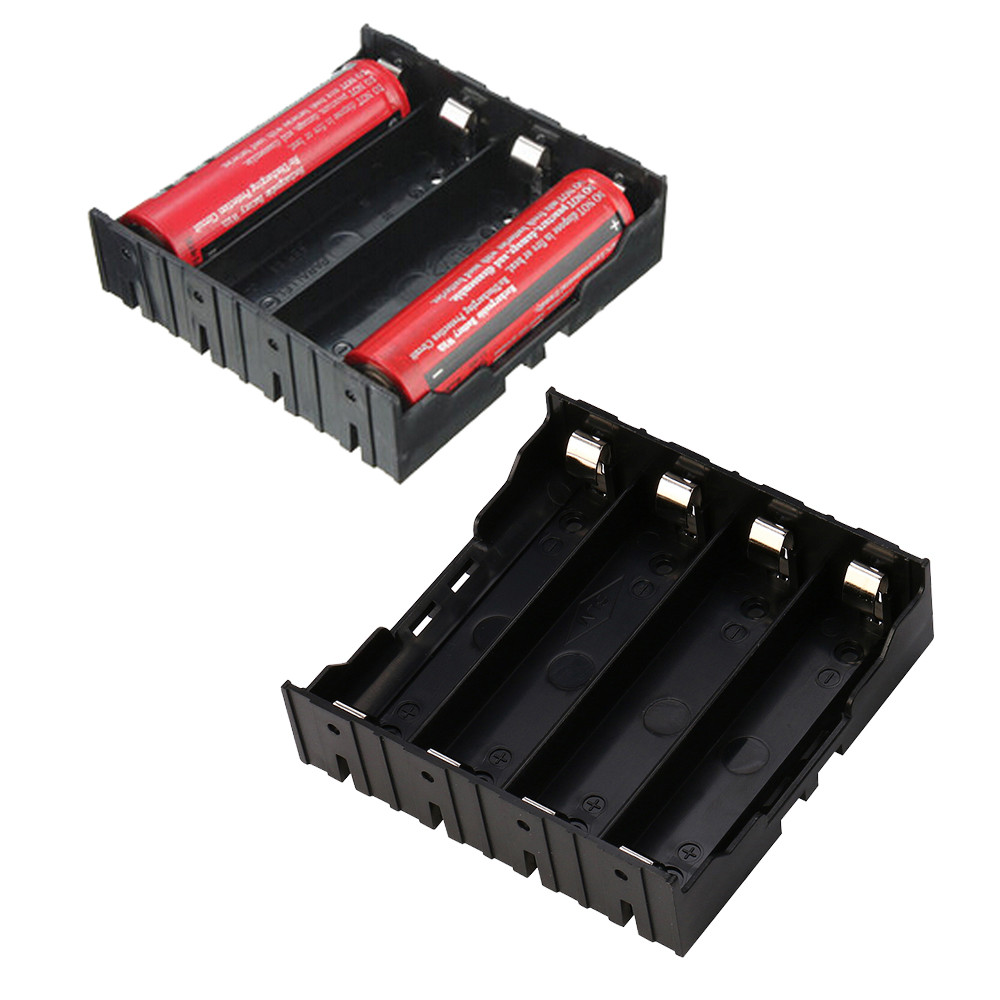 1PC DIY Plastic Battery Storage Box Holder Case For 4X18650 Rechargeable Battery Holder 4 ja25 1pc st013b hold four aa battery box diy cell box no 5 battery holder no lid plastic battery holder storage box part tool