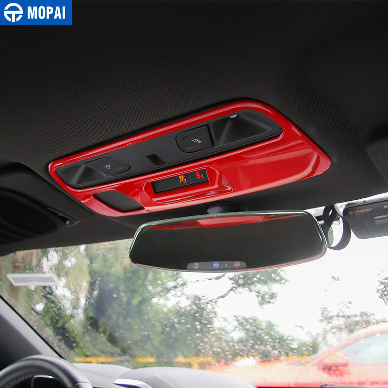 Image 2 - MOPAI ABS Car Interior Roof Reading Light Lamp Decoration Cover Stickers for Chevrolet Camaro 2017 Up Car Accessories Styling-in Interior Mouldings from Automobiles & Motorcycles