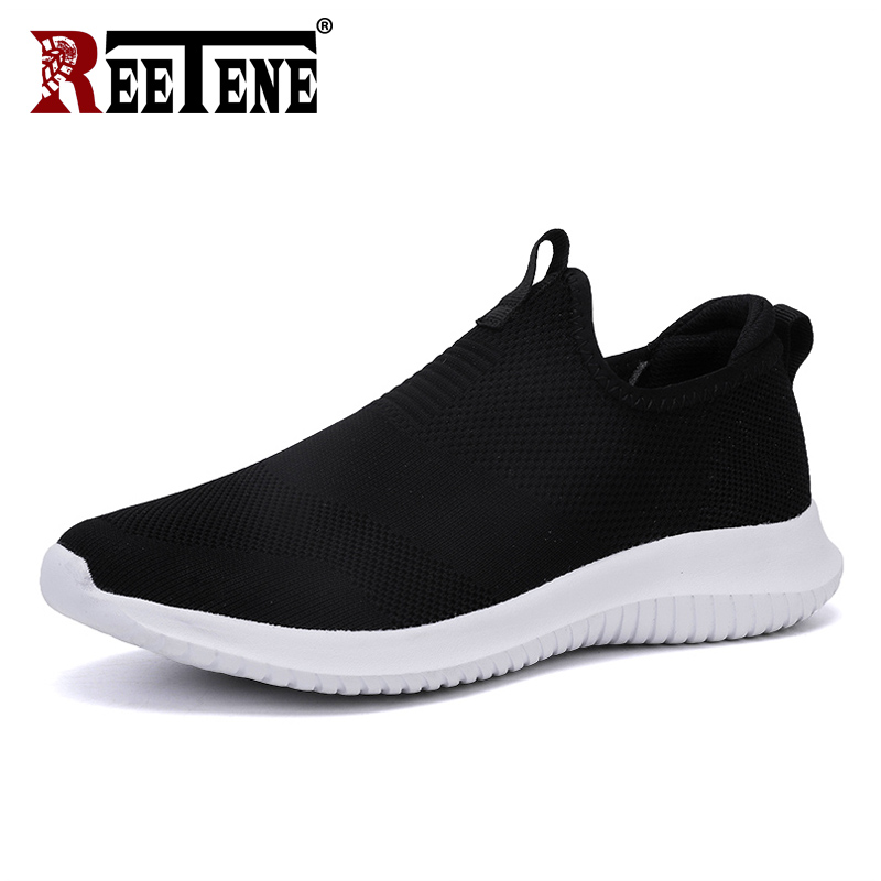 REETENE 2019 Cheapest Men Casual Shoes Men Sneakers New Running Shoes For Men Lightweight Air Mesh Shoes Male Large Sizes 38-48