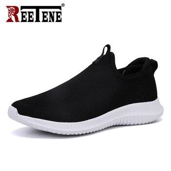 e8db8111 Reetene 2019 самая дешевая мужская повседневная обувь мужские кроссовки  Новая Спортивная обувь для мужчин легкая обувь из сетчатого материала м.