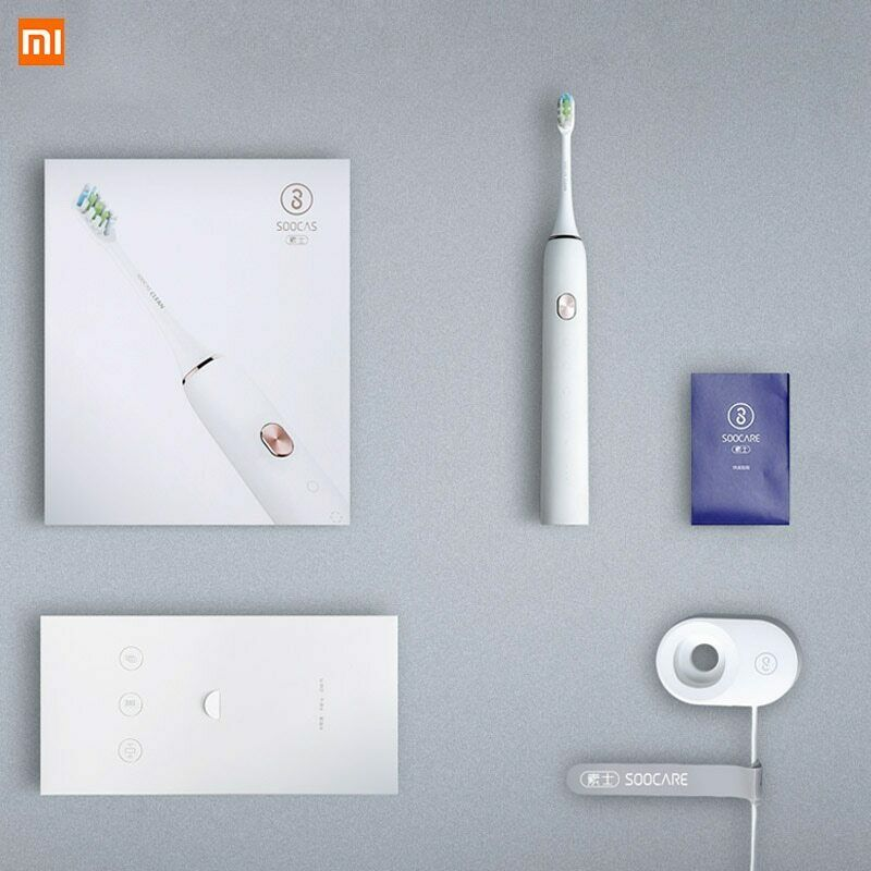 Soocas X3 فرشاة أسنان كهربائية بالموجات الصوتية USB قابلة للشحن ترقية مستشعر بالموجات فوق الصوتيّة مقاوم للماء التلقائي فرشاة أسنان استبدال فرشاة رئيس-في فرشاة الأسنان الكهربائية من الأجهزة المنزلية على  مجموعة 1