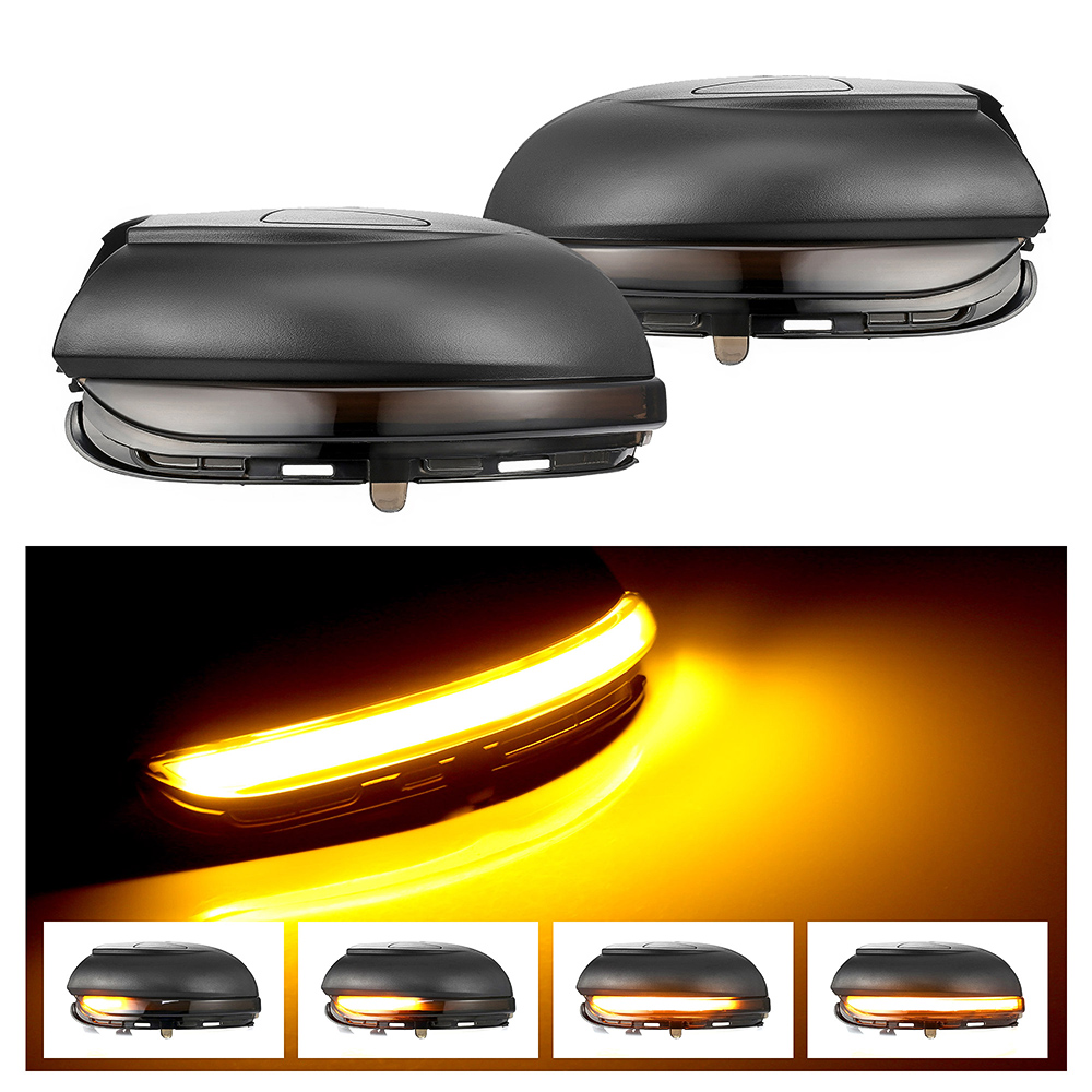 2pieces LED Side Wing Dynamic Turn Signal Light Rearview Mirror Indicator for Volkswagen VW Golf MK6
