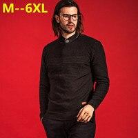 8XL 6XL 5XL 4X Cashmere Sweater Men Brand Clothing Mens Sweaters Print Hang Pye Casual Shirt
