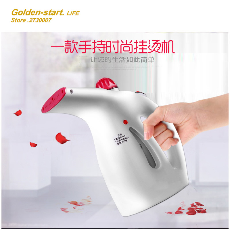 Подробнее о MINI handheld electric Garment Steamer household steam ironing machine travel portable Cloth steam iron with brush handheld electric garment steamer with brush clothes ironing machine household mini steam hanging iron travel for cloth eu plug