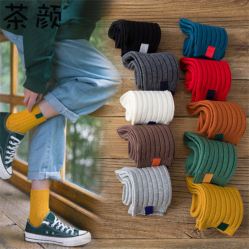High Quality New Fashion 1Pair Warm Autumn Winter Style Christmas Winter Women Socks Striped Socks For Woman Female Funny Socks