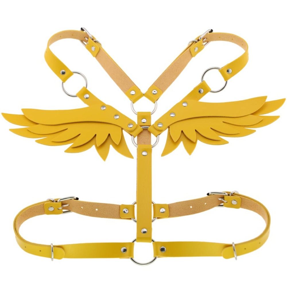 Body Chain Wings Leather Harness Garters Strap Halterneck