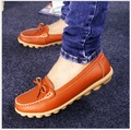 spring and autumn Genuine Leather bowknot Women Shoes Flats  non-skid mother dancing shoes