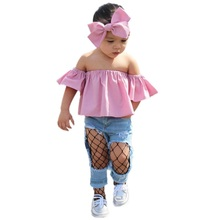 Floral Toddler Baby Girl Kids Off Shoulder Ruffle Romper Shorts Summer Outfits+Headband