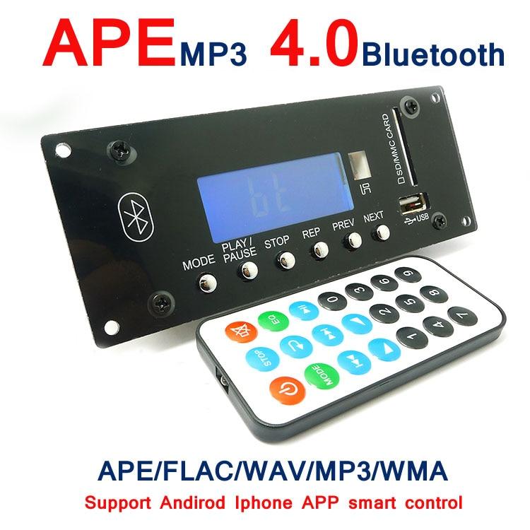 4.0 Bluetooth MP3 Decoding Board Module w/ SD Card Slot / USB / FM / Alarm APE FLAC WAV WMA Decoder Board KIT Digital LED SD/MM 12v bluetooth mp3 decoding board module with led diy usb sd mmc ape flac wav dae decoder record mp3 player aux fm folders switch