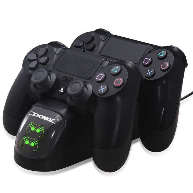 PS4 Controller Charger Controller Charging Docking Station with LED Light Lndicators Bottom Light for PS4/PS4 Slim/PS4 Pro Stand