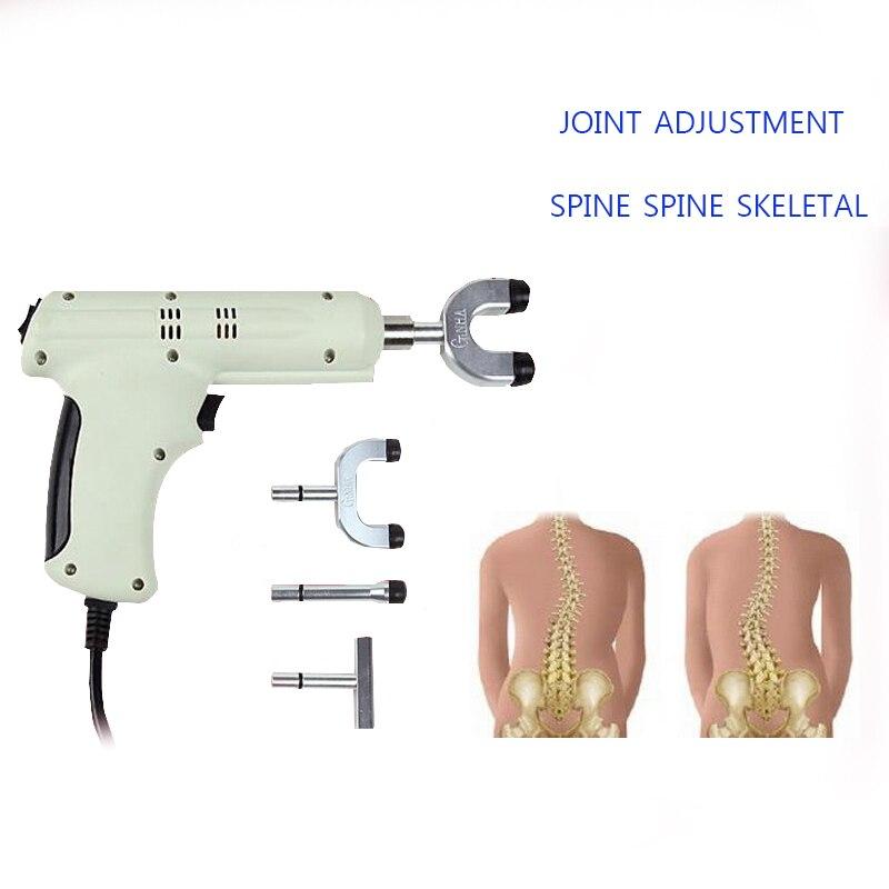 4 Heads Spine Chiropractic Activator Gun /Adjusting Instrument Correction Massager impulse adjustable intensity DHL Shipping