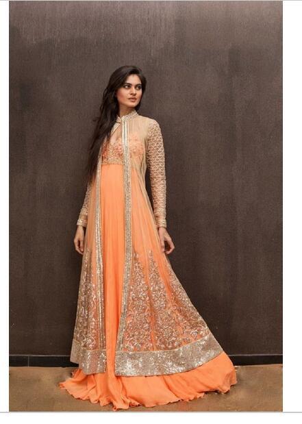 Beauty chiffon east Indian robes DE party dress come cloak ...