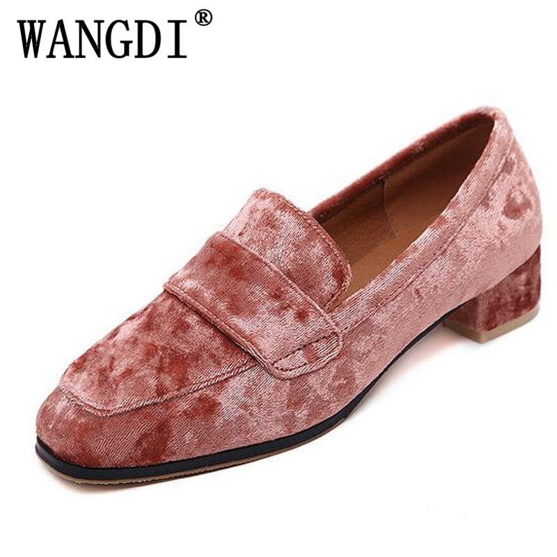 British Style loafers Casual Velvet Shoes Woman 2017 Slip On Flats Oxfords Platform Women Shoes Size 35-40 2017 spring women flats pu leather shoes woman pointed toe slip on platform loafers woman creepers casual shoes size 35 40