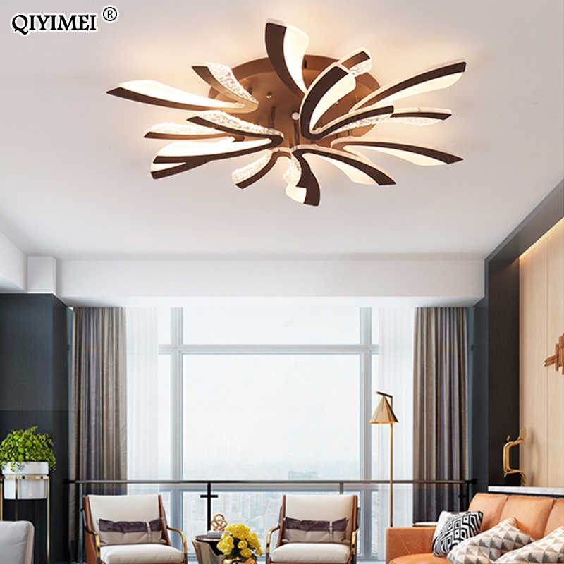 Современные светодиодный потолочные люстры-светильники для гостиной, спальни, столовой, кабинета, белого и черного цвета, AC90-260V люстры и крепления для люстр