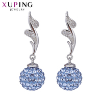 Xuping Fashion Earring Wholesale High Quality Crystals From Swarovski Color Plated Charm Design For Women Gift