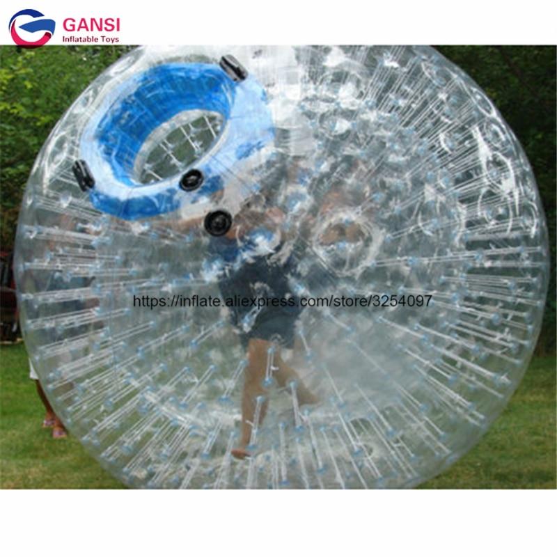 Jeux amusants adultes zorb gonflable ing balle prix, 1.0mm pvc 3 m boule zorb gonflable location