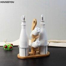 Креативный керамический контейнер для приправы, Набор декоративных фарфоровых соусников, кухонные инструменты, гаджеты, обеденный стол, посуда, аксессуары