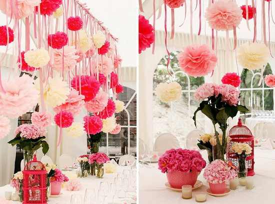 Remarkable Diy 8 Inch 20 Cm Tissue Paper Pom Poms Decorative Paper Flowers Balls For Wedding Centerpieces Party Decorations Multicolor Home Interior And Landscaping Ologienasavecom