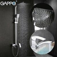 GAPPO Shower Faucets Bath Tap Mixers Basin Faucet Basin Mixer Rainfall Shower Set Bathroom Faucet Mixer