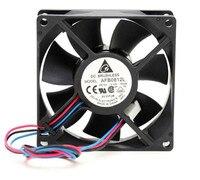 2 unids/lote Delta AFB0812L 8CM DC 12V 0.12A 80*80*25mm 3 cable de CPU chasis de alimentación de ventilador de enfriamiento de ordenador|Ventiladores y refrigeración| |  -