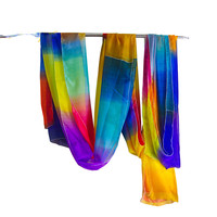 1 set magic silk change to rainbow waterfall flower magic tricks close up stage props magician magie easy to do illusion toys