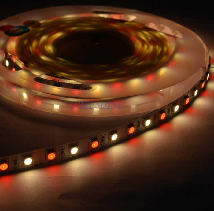 72 leds/M RGBW RGBWW RGBNW 5 M LED Şerit Işık 5050 4 renkli Ip Işık Olmayan su geçirmez 17.2 W DC24V Ücretsiz Kargo