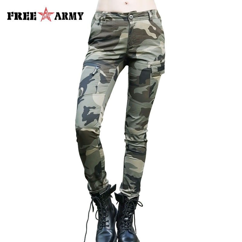 Woman Trousers Casual   Pants   Military Style Cargo   Pants   Women Bottoms New Cotton Joggers Straight Slim Skinny   Pants   &   Capris   Lady