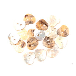 50 шт., 15 мм, 2 отверстия, перламутровые пуговицы в виде сердечек, пуговицы для скрапбукинга, бутоньерка, аксессуары для одежды DIY