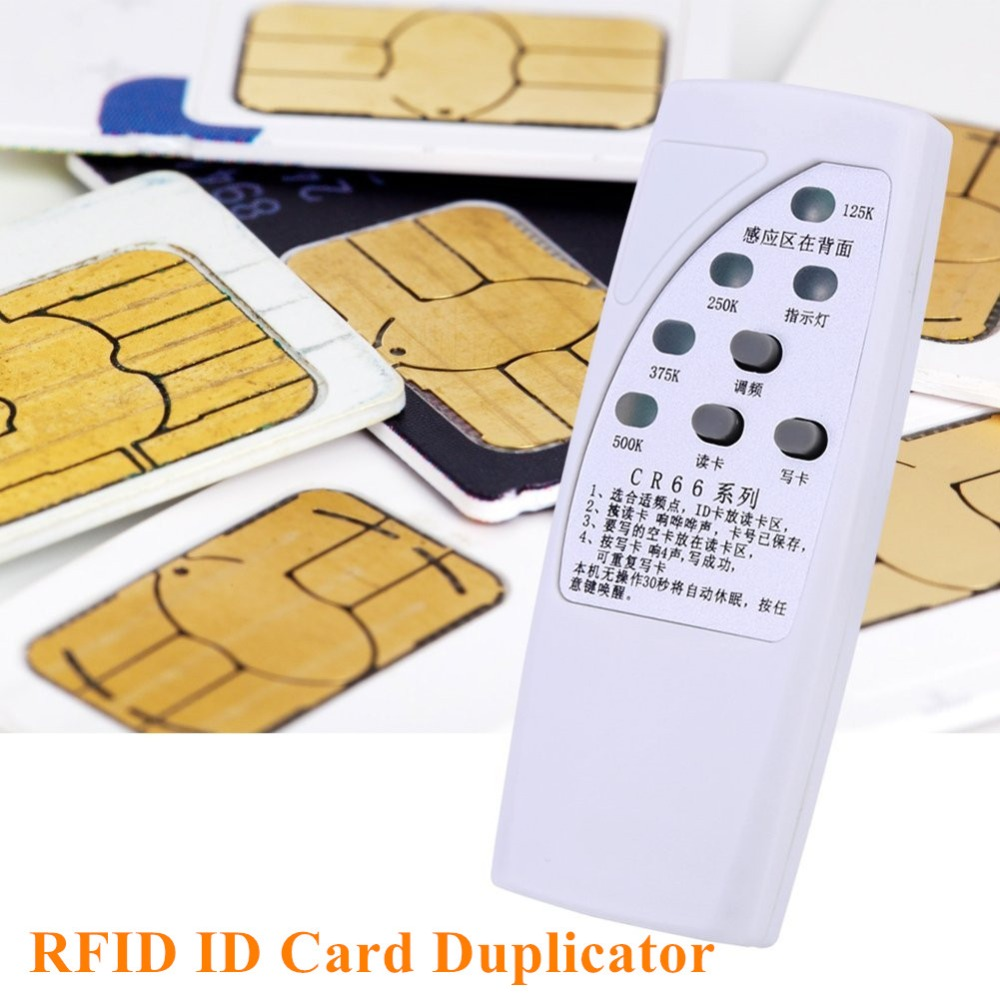 Handheld 125K/250K/375K/500K RFID ID Card Duplicator Programmer Reader Writer 3 Buttons Copier Duplicator With Light Indicator