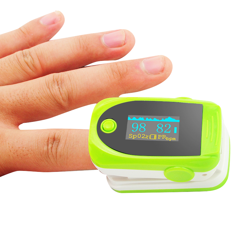 50 PC Color Green Digital finger oximeter, OLED pulse oximeter display pulsioximetro SPO2 PR oximetro de dedo elera new finger pulse oximeter with pouch spo2 pr pi oximetro de pulso digital blood oxygen saturometro pulsioximetro