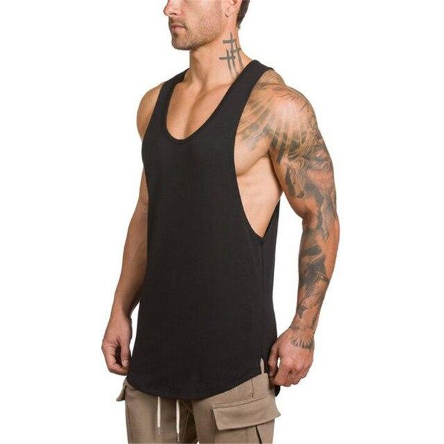 da44fe510767 Men's Gyms Bodybuilding Fitness Muscle Sleeveless Singlet Top Vest Tank  man's clothes debardeur homme abbigliamento uomo