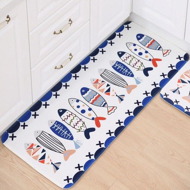 Cartoon Printing Kitchen Floor Mats Modern Mat Anti Slip 40x60cm 50x80cm 50x120cm