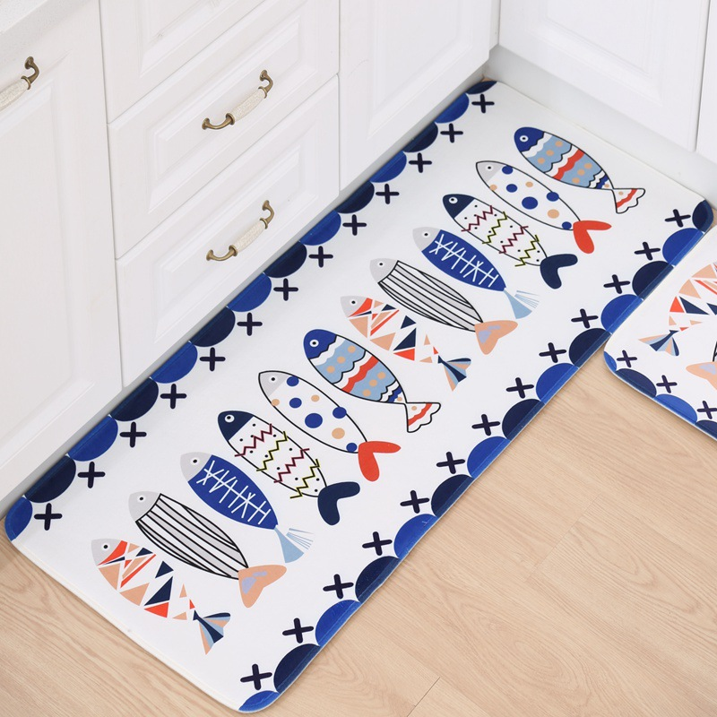 cartoon printing kitchen floor mats modern kitchen mat antislip - Plastic Floor Mat