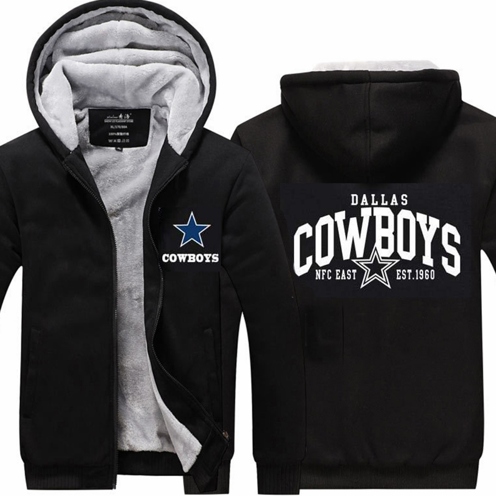 X-COSTUME New Arrival Dallas Buyers Club Cow Boys Hoodie Men Thick Zipper Sweatshirts Jackets Winter Coat Dallas Cosplay Hoodie
