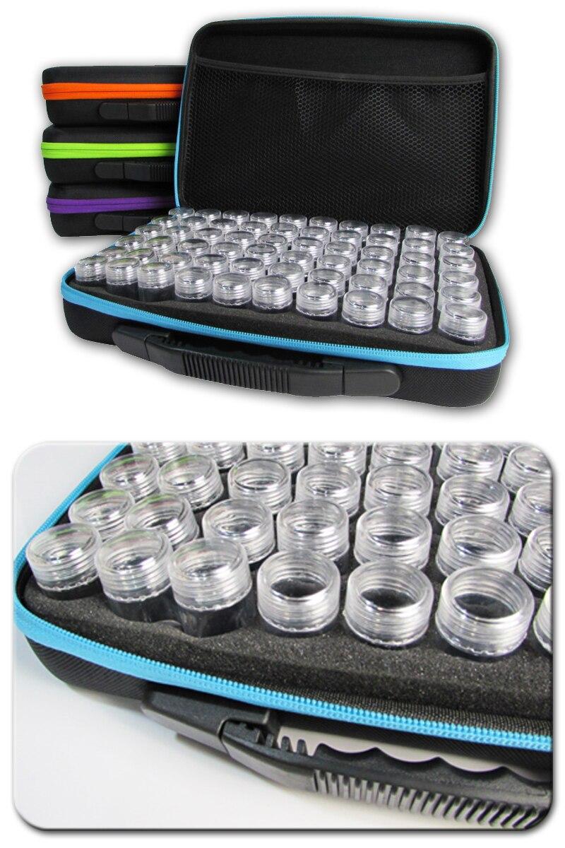 60 слотов Алмазная вышивка коробка алмазные аксессуары для рисования чехол прозрачные пластиковые бусины дисплей коробки для хранения инструменты для вышивки крестом