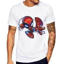 цены New Fashion Men T Shirt Creative Cartoon Spiderman Printed Male Casual Tops Mens Tshirts Short Sleeve Hipster Funny Tee Shirts