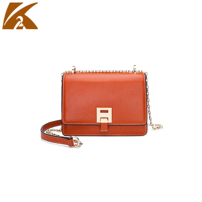 KVKY Brands Designers Real Cow Leather Small Chain Shoulder Bag Crossbody Bags for Women Genuine Leather Handbags Messenger Bags free shipping hot top real leather bags women leather handbags designers original brand shouler messenger bags size 50 38 15cm
