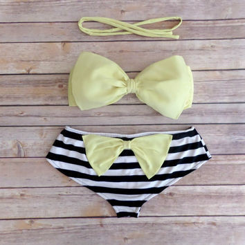 2017 Fashion Push Up Bikini Women Swimsuits Sexy Bathing Suit Swimwear Bowtie Bandeau Bikini Set 22