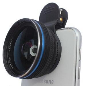 Image 2 - SNAPUM alüminyum alaşımları evrensel klip cep telefonu 0.45X geniş açı lensler + 10x makro cep telefonu lens iphone Huawei samsung