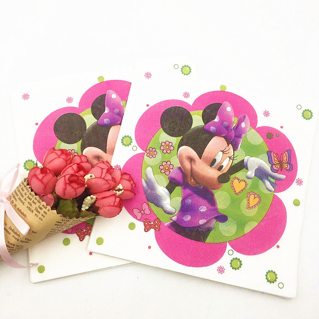 HOT 20pcs/lot Minnie mouse Party Supplies Paper Napkin Cartoon Birthday Decoration Baby Shower Theme  sc 1 st  AliExpress.com & HOT 20pcs/lot Minnie mouse Party Supplies Paper Napkin Cartoon ...